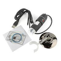 50-500X 2MP USB 8 LED Light Digital Microscope Endoscope Camera Magnifier