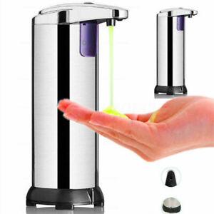 Automatic Chrome Bathroom Kitchen Liquid Soap Dispenser No-Touch