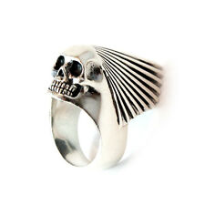 925 Sterling Silver King Baby Skull Chief Ring size 11.5
