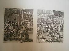 Planche gravure François Chauveau Frontispice du Virgile Goguenard et de ville .