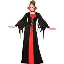 Adults Classic Red Vampiress Fancy Dress Halloween Costume Ladies Womens Vampire