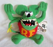 "rare Rat Fink green 7"" plush doll, new (BH)"