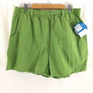 Columbia Mens Swim Trunks Shorts Pockets Mesh Elastic Waist Green XL 6 Ins