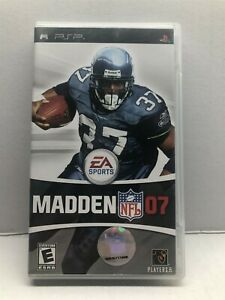 Madden NFL 07 (Sony PSP, 2006) Complete Tested Working - Free Ship