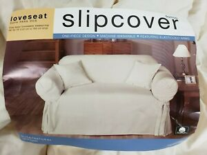 """Loveseat The One-Piece Slipcover 58""""-73"""" Size Loveseat Sure Fit Slipcovers"""