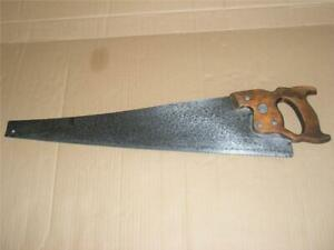 """Vintage Disston Hand Rip Saw Canada 24"""" Blade 8 TPI Woodworking Tool Sharpened."""