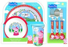 Peppa Pig Once 6 Piece Tableware Set - Dinner Set & Cutlery *NEW