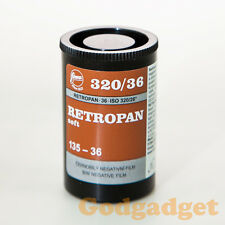 1 Roll x FOMA Retropan soft 320 36exp Black and White Film 135-36 35mm 320/36