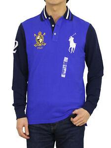 Polo Ralph Lauren Long Sleeve Big Pony Custom Slim Fit Polo Shirt with Emblem