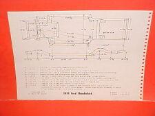1971 FORD THUNDERBIRD LANDAU HARDTOP COUPE SEDAN PINTO FRAME DIMENSION CHART