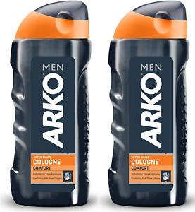Arko Men Aftershave Cologne Comfort 250ml - Great Smell - (2 Pcs Offer) 2x