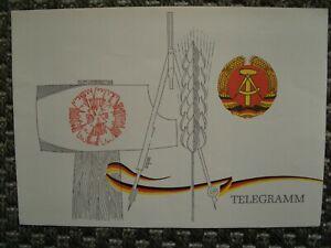 """DDR (Schmuck-)Telegramm """"Bildungseinrichtungen der Deutschen Post"""" 1981"""