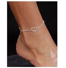 Sexy Womens Rhinestone Heart Anklet Jewellery Accessory