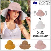 Women Men Bucket Hat Unisex Cap Cotton Fishing Hiking Camping Outdoor Sun Beach