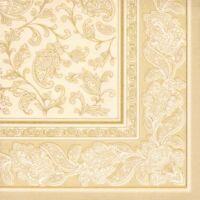 """50 champagner Premium Servietten ROYAL 1/4-Falz 40 cm """"Ornaments"""" Party FSC®"""