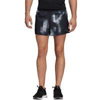 adidas Mens Sub 2 Split Shorts Pants Trousers Bottoms Black White Sports Running