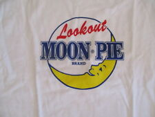 Adult Small T-Shirt -Lookout MOON PIE Brand-White Heavy Weight Knit