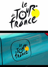 Black Le Tour de France Logo Car Auto SUV Window Body Fuel Tank Sticker Decal