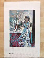 Agathe : Litho  Gaston Larrieu , Tirage papier japon 96/190 Signé Crayon