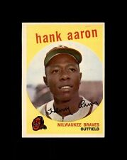 New listing 1959 TOPPS #380 HANK AARON BRAVES EX-MT+ to NM