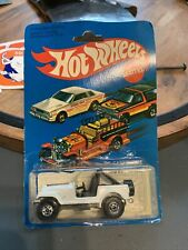 HOT WHEELS 1981 WHITE JEEP CJ-7  #3259 NOC WITH PROTECTOR