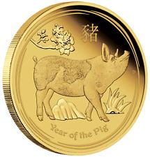 2019 Australian Lunar Year of the Pig 1/10 oz Gold Proof $15 Coin Australia