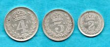 More details for 1941 silver maundy fourpence, threepence & twopence. 3 george vi coins.
