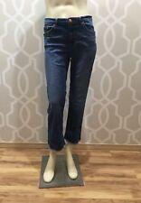 LOGG H&M Denim Jeans Cropped Medium Blue Wash Capri Euc