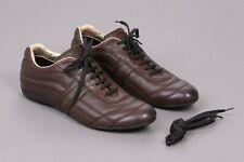 Ermenegildo Zegna Designer Sneaker Leder braun Grösse 43 UK 9