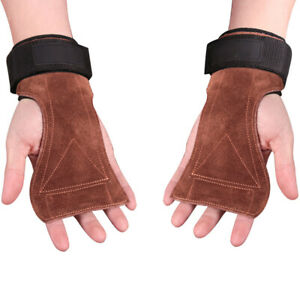 Crossfit Grips Leather Palm Protector Gymnastic Gloves Hand Guard Pull Up Mitten