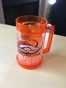 2 NFL Denver Broncos License Full Color Frosty Beer mug