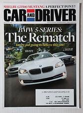 CAR DRIVER AUTOMOTIVE MAGAZINE 2010 AUGUST BMW 535i M37 INFINITI A6 AUDI