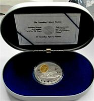 1994 CANADA SILVER 20 DOLLARS THE VICKERS VEDETTE, GILDING, PROOF
