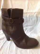 Jane Shilton Brown Ankle Leather Boots Size 39