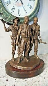 "XF- Franklin Mint Vietnam Veterans Memorial Sculpture - ""Three Servicemen"" 1988"
