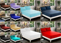 Extra Deep 40cm Fitted Sheet Bed Sheets 100% Poly Cotton EasyCare 4FT Size
