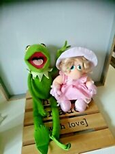 Peluches vintage Kermit Miss Peggy Muppets show 1986 Rainbow toys