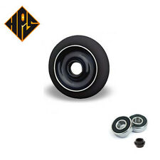 2 PRO STUNT SCOOTER BLACK SOLID METAL CORE WHEELS 110mm 88A ABEC 11 BEARINGS 9
