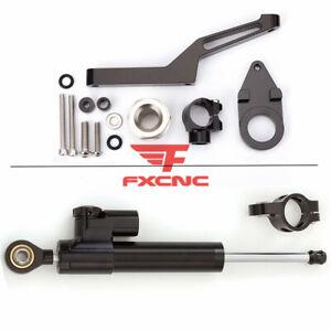 For Kawasaki ZX636 ZX6R 2009-2017 Steering Damper Stabilizer Bracket Holder Set