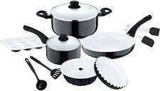 12 Non Stick Pan Set. Black Full Kitchen Set Induction Pan Frying Pan Muffin Tin