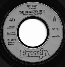 THE BOOMTOWN RATS - RAT TRAP / SO STRANGE - ORIGINAL 70s IRISH PUNK ROCK