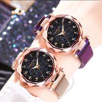 Starry Sky Watch Magnet Strap Quartz Stainless Steel Wristwatches Women's Gift