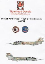 Td48002/tigerhead decals-Turkish Air Force tf-104g - 1/48 - tabulazione decals