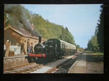POSTCARD LBSC TERRIER CLASS LOCO NO 678 WITH EX GWR COACHES AT CROWCOMBE