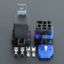 2 sets - Waterproof integrated  12v 40A  4pin auto relay and relay holder