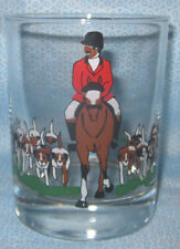 Fox Hunt Hunting Rock Glass The Huntsman and Hounds