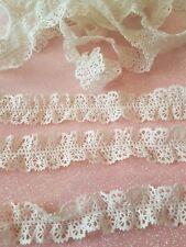 double edge off white cotton vintage lace craft trimming braid