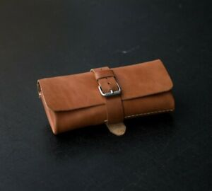 Leather roll for 2-5 watches, Watch pouch, Travel watch roll, watch storage