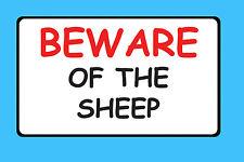 Cuidado de las ovejas Pet signo de vinilo pegatina de explotación ganadera Impermeable B41