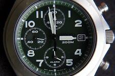 Seiko Quartz 7T62 Chronograph Date Alarm Watch Uhr Montre Reloj Orologio